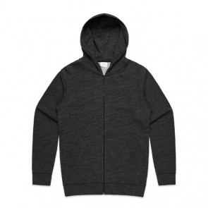 AS Colour Men's Fleck Zip Hood - Black Fleck