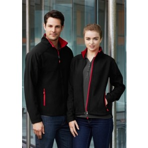 Mens Geneva Jacket - Models Black Red