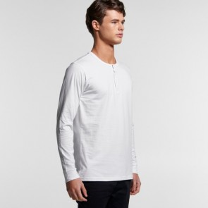 AS Colour Men's Henley Long Sleeve Tee