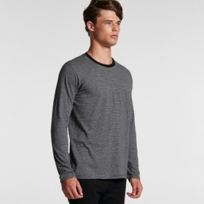 AS Colour Men's Line Stripe Long Sleeve Tee