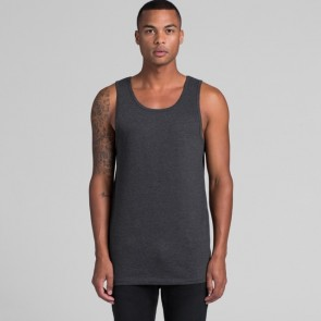 AS Colour Men's Lowdown Singlet - Asphalt Marle Model Front