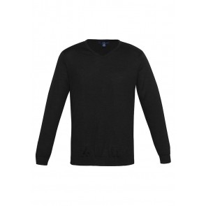 Mens Milano V Neck Pullover Black
