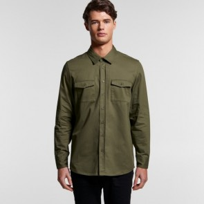 AS Colour Men's Military Shirt - Army Model Front