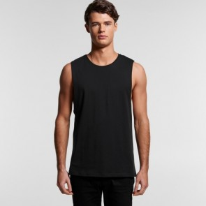 AS Colour Men's Organic Barnard Tank Tee - Model Black Front