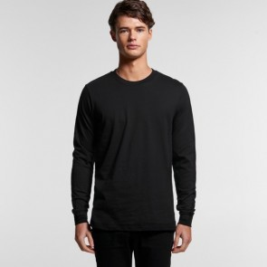AS Colour Men's Organic Base Long Sleeve Tee - Black Model Front