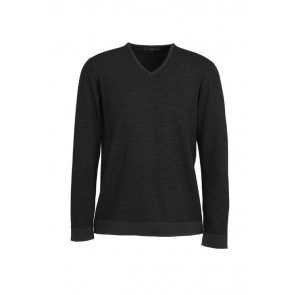 Mens Origin Merino Pullover Black/Charcoal ONLY