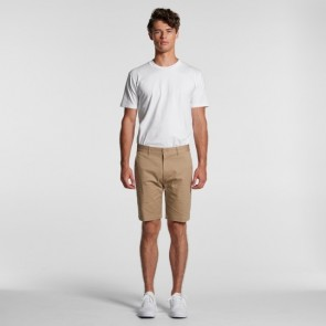 AS Colour Men's Plain Shorts - Khaki Model Back