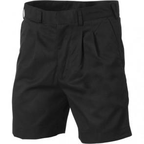 DNC Pleat Front Permanent Press Shorts - Black