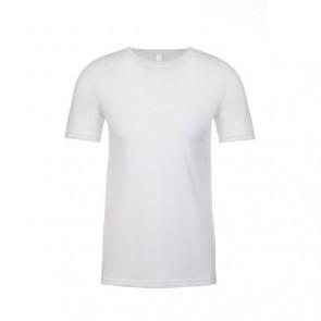 Next Level Men's Poly/Cotton Crew - White ONLY