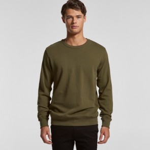 AS Colour Mens Premium Crew - Army Model Front
