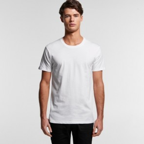AS Colour Men's Organic Staple Tee - White Model Front