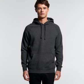 AS Colour Men's Supply Hood - Asphalt Marle Model Front