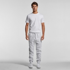 AS Colour Men's Surplus Track Pants - White Marle Model Front