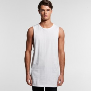 AS Colour Men's Tall Barnard Tank - White Model Front