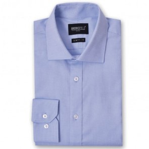Brooksfield The Entreprener Men's Long Sleeve Shirt - Blue