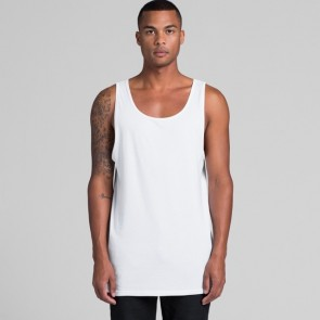 AS Colour Men's Typo Singlet - White Model Front