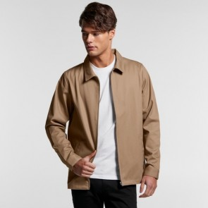 AS Colour Men's Union Jacket - Khaki Model Front Open