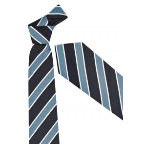 Biz Corporate Mens Wide Contrast Stripe Tie