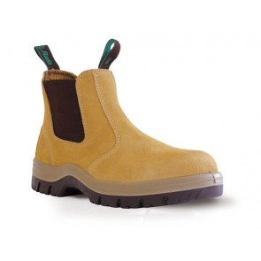Bata - Mecury Wheat Suede Slip On Safety Boot