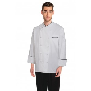 Chef Works Monte Carlo White 100% Cotton Chef Jacket