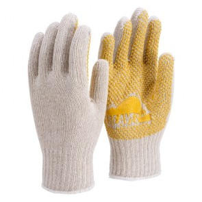 Knitted Polycotton Single Sided Polka Dot Work Gloves