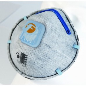 Respirator Crossfold P2 Valved Active Carbon Disposable Masks