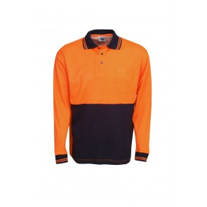 Budget HV Cotton Back Long Sleeve Polo