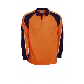 Budget HV CoolDry Side Panel Long Sleeve Polo