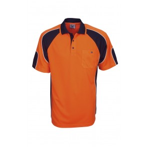 Budget HV CoolDry Side Panel Short Sleeve Polo