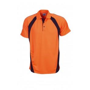 Budget Mens HV CoolFast Mini Waffle Short Sleeve Polo Shirt