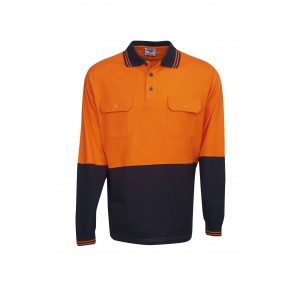 Budget HV Cotton Long Sleeve Polo