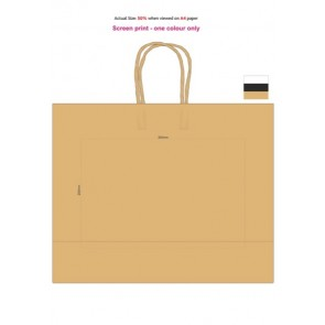 Paper Carry Bag - Extra Large Screen Print 1 Colour