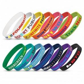 Silicone Wrist Band Indent - Screen Print Expamples