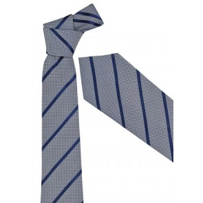 Biz Corporate Mens Single Contrast Stripe Tie