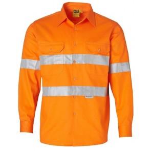 Australian Industrial Wear Hi Vis Unisex Cotton Drill Safety Shirt
