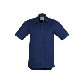 Syzmik Mens Light Weight Short Sleeve Tradie Shirt - Navy