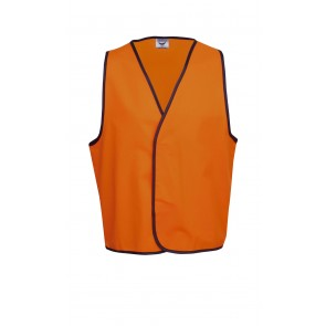 Hi Vis Budget Day Vest Fluoro Orange Front