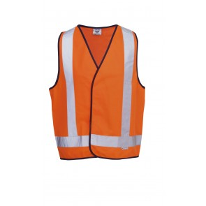 Budget Hi Vis Day Night Safety Vest X Pattern