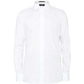 Van Heusen Mens European Fit Long Sleeve 100% Cotton Solid Dyed Poplin