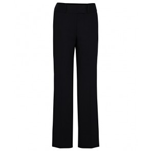 Van Heusen Womens Crush Resistant, Stain Resistant, High Twist Wool Trouser - Black Front