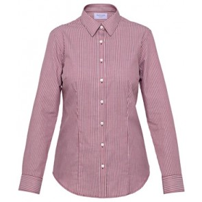 Van Heusen Womens Classic Fit Long Sleeve Cotton Polyester Yarn Dyed Stripe Shirt