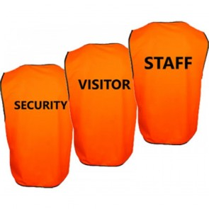 BH Wear Hi Vis Day Vest - Pre Printed STAFF - SECURITY - VISITOR