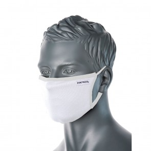 Portwest Reusable Cotton Face Mask 2-Ply Anti-Microbial Fabric