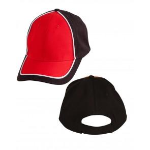 BLACK WHITE RED FRONT & BACK