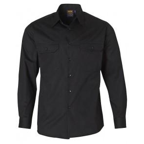 Winning Spirit Men's Cotton Long Sleeve Work Shirt