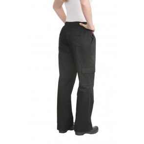 Chef Works Women's Black Cargo Chef Pant