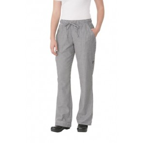 Chef Works Women's Small Check Chef Pants