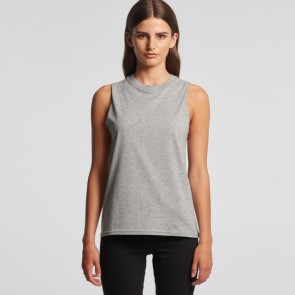 AS Colour Womens Brooklyn Tank - Grey Marle Model Front