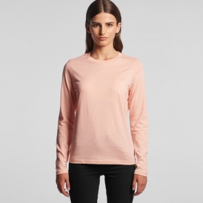 AS Colour Women's Chelsea Long Sleeve Tee - Pale Pink