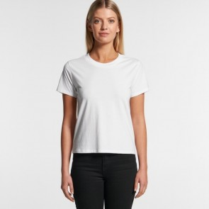 AS Colour Woman's Cube Tee - White Model Front